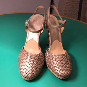 Michael Kors Braided Leather High Heeled Corked 10